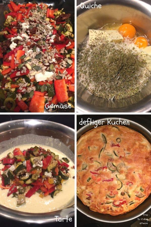 Gemüse Quiche / Tarte / deftiger Kuchen