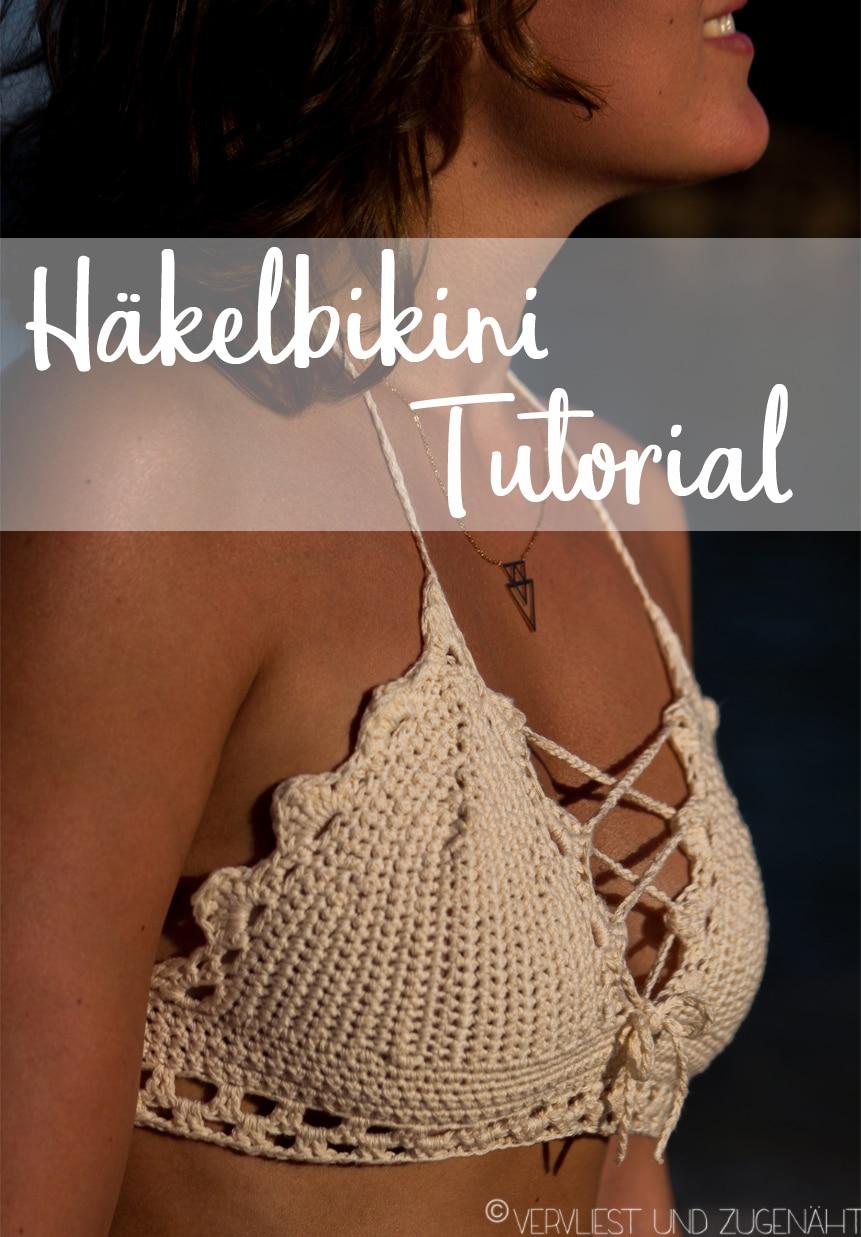 Bikini-Top häkeln: Anleitung mit Häkelschrift - HANDMADE Kultur