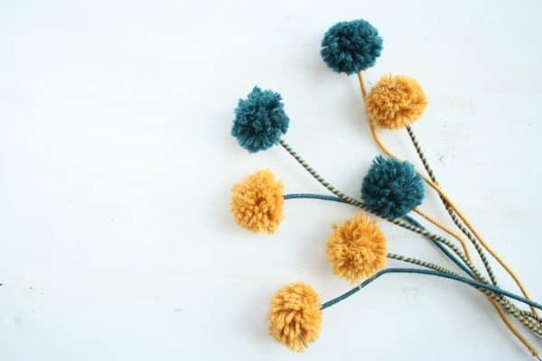 Pom Pom Blumen   DIY für den Boho summer