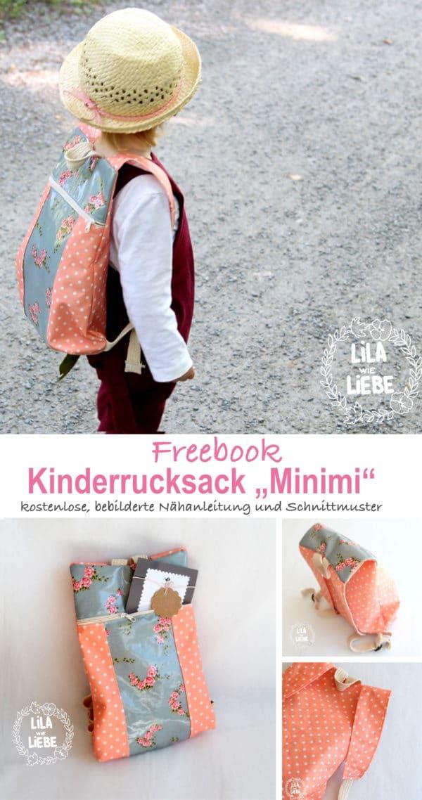 Kinderrucksack nähen - step-by-step Anleitung+Schnitt