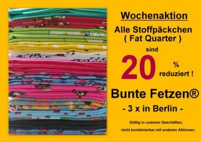 Wochenaktion bei Bunte Fetzen® in Berlin !