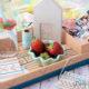 Mudcloth-inspiriertes Tablett aus einer Obstkiste