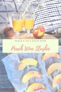 Sommer-Cocktail: Pfirsich Wine Slushie