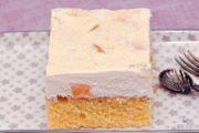 Fantakuchen mit Pfirsich-Schmandcreme