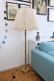 Stehlampe mit Seil-Lampenschirm – eine fast DIY-Never-Ending-Story