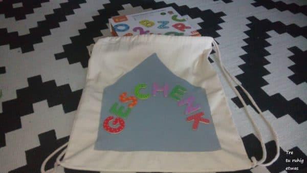 Magnetturnbeutel zum Schulstart / Schulbeginn Turnbeutel kreativ gestaltet