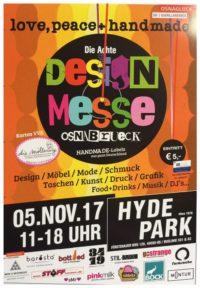 8. DESIGNMESSE OSNABRÜCK, 'peace, love and handmade' am 05.November 2017 im legendären 'HYDE PARK'