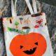 Tasche für Halloween nähen | Kürbis Applikation