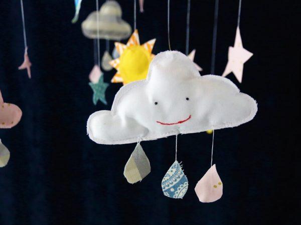Mobile selber nähen | Sonne Mond und Sterne