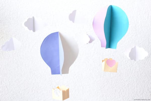 DIY 3D Heißluftballon - HANDMADE Kultur