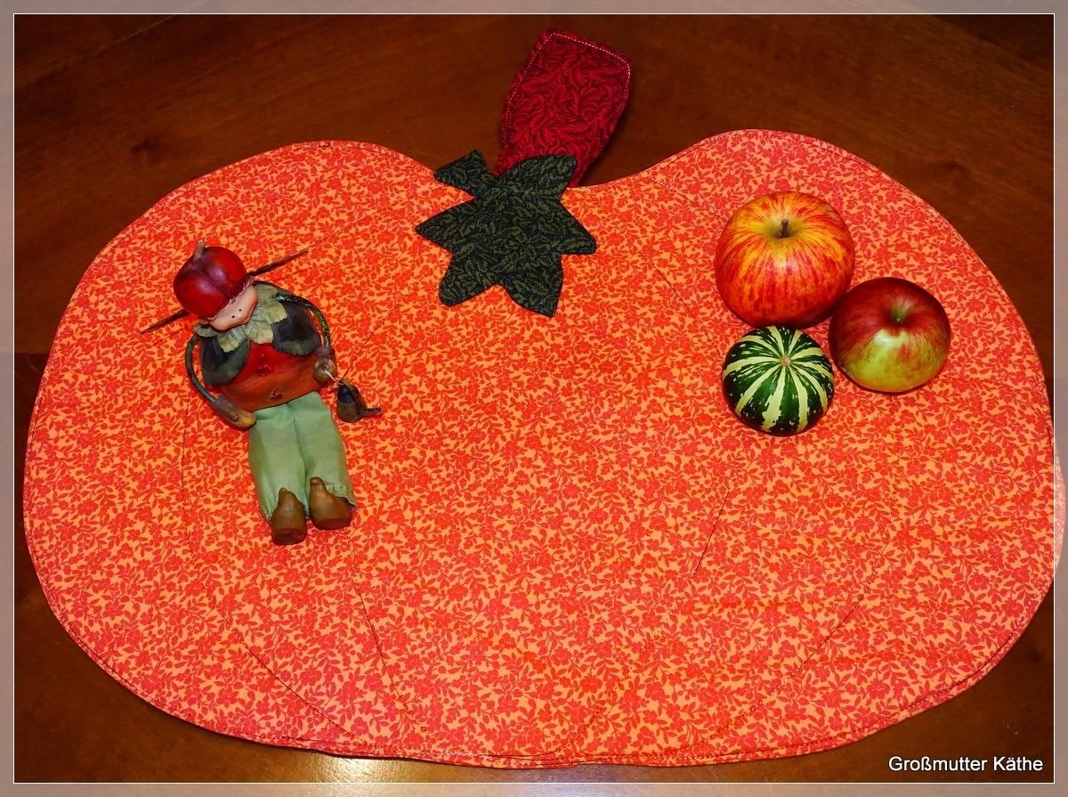 DIY : Herbstliche Tischdeko Tischset Kürbis nähen - HANDMADE Kultur