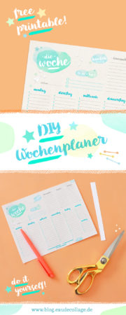 DIY WOCHENPLANER-PRINTABLE / WOCHENPLAN A5
