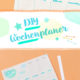 DIY WOCHENPLANER-PRINTABLE A5