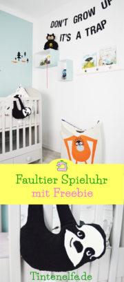 Faultier Spieluhr nähen mit Freebie