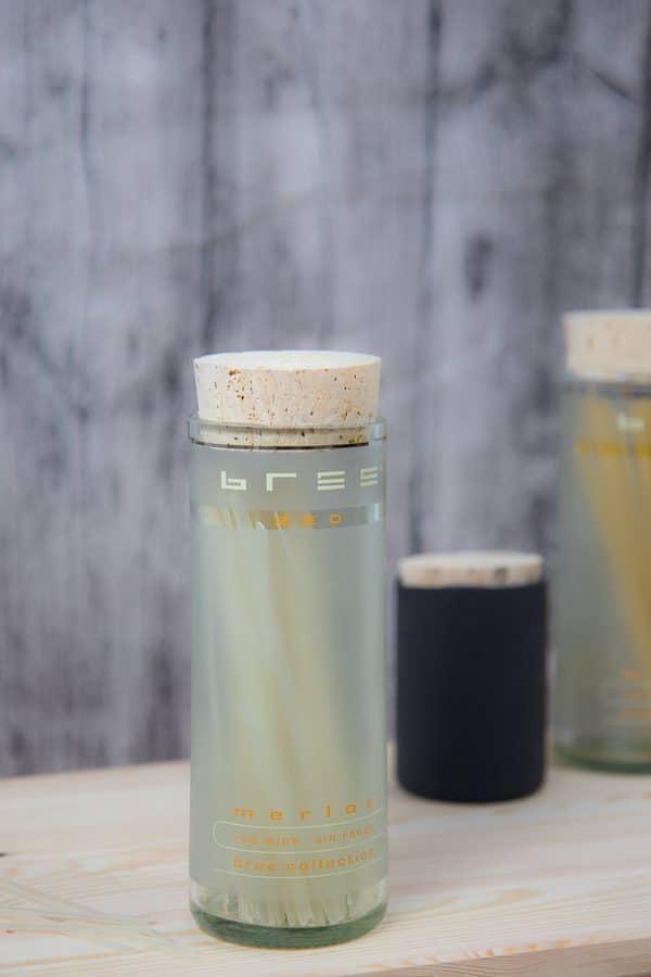 Aufbewahrung aus geschnitten Flaschen