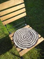 Stuhlkissen Spirale