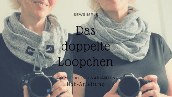 Anleitung: Loop-Schal nähen   mit Tunnelzug