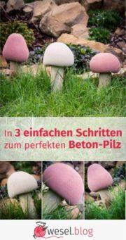 In 3 einfachen Schritten  zum perfekten Beton-Pilz