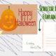 Postkarte Halloween als kostenlose digitale Datei zum ausdrucken und verschicken