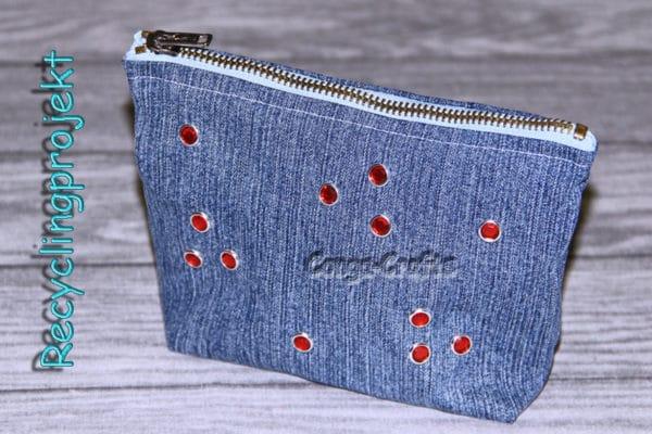 Täschchen Mit Rv Aus Alter Jeans Nähen Recyclingprojekt Handmade