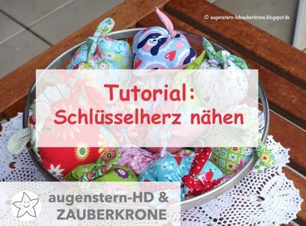 {Anleitung} Ein Schlüsselherz nähen |Tutorial mit Schnittmuster (Download)