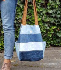 Tasche aus Jeansstreifen