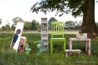 Workshop Möbel Berlin: Upcycling mit tollem Papier auf alten Möbeln