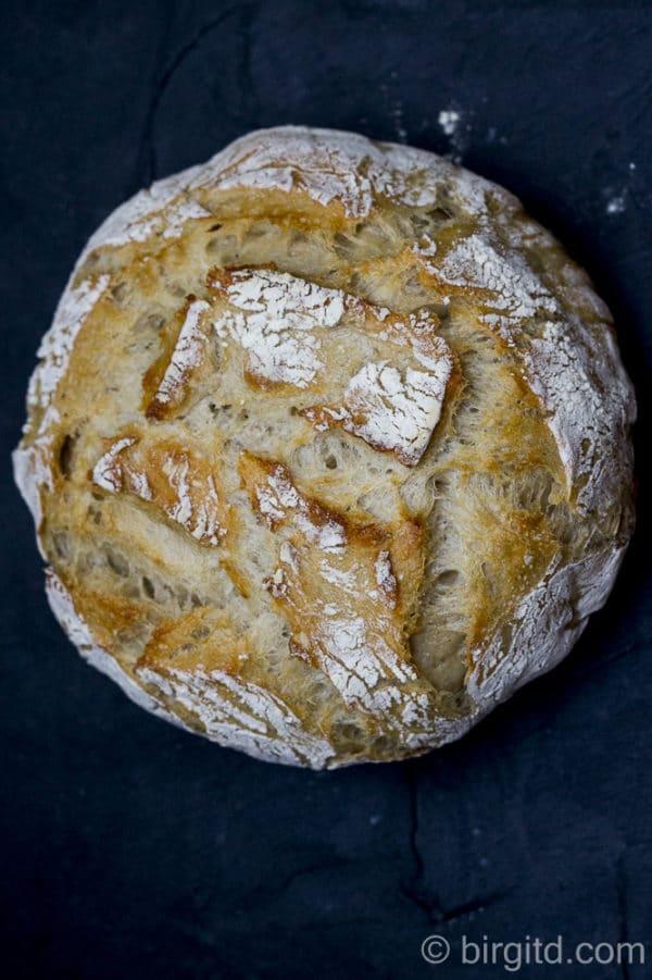 No-knead-Weizenmischbrot [Birgit D]