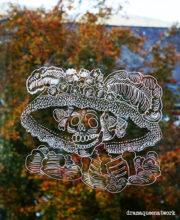 Dia de los Muertos  - Fensterbild mit Kreidestift