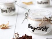 DIY Kerzenglas mit Lettering