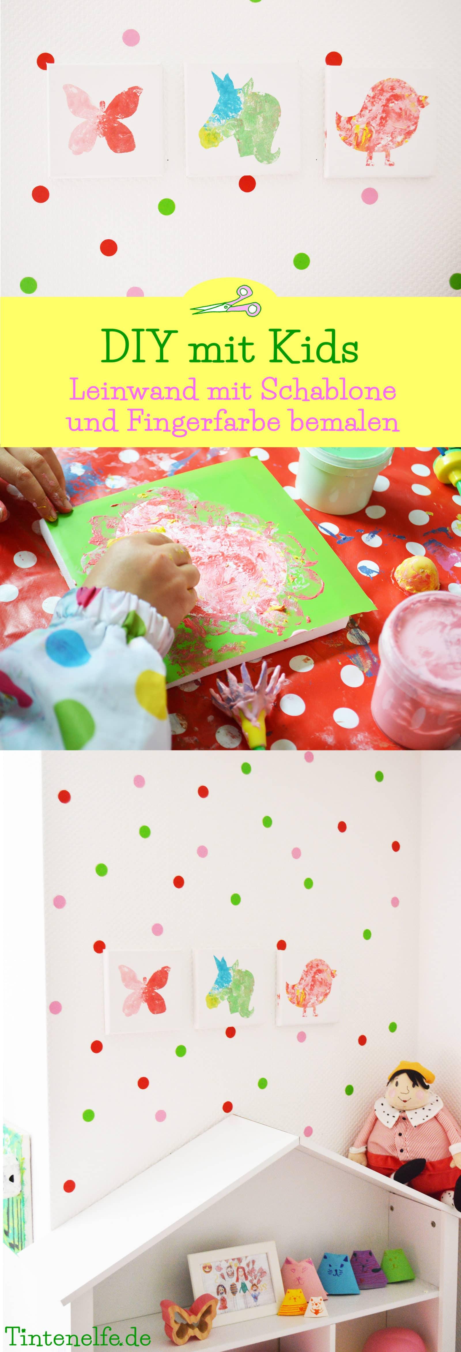 DIY mit Kindern - schöne Leinwände bemalen - HANDMADE Kultur