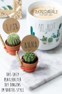 Das easy Platzhalter DIY Dingens im Kaktus Style