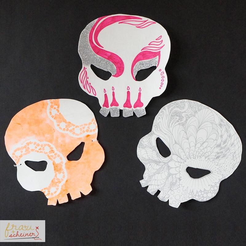 Halloweenmaske Totenkopf Handmade Kultur