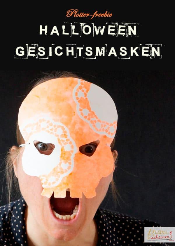 Halloweenmaske Totenkopf