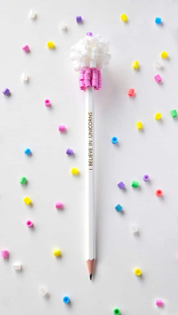 Bügelperlen Cupcake Stift
