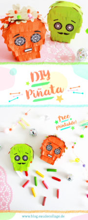DIY HALLOWEEN PINATA / SUGAR SKULL *FREE PRINTABLE*