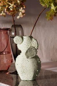 Kaktusvase - mit Glasflasche und Kaltporzellan selber machen.
