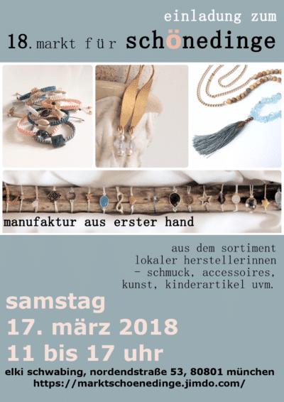 Markt für schöne Dinge - Kunsthandwerk in München-Schwabing