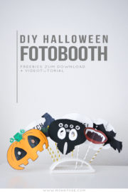 DIY Fotobooth Props für Halloween + Freebie & Videotutorial