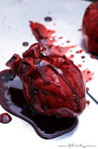 Halloween Nachspeise: Blutende Herzen
