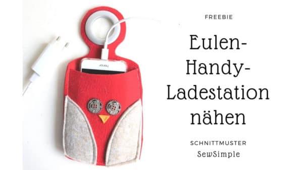 Schnittmuster: Handy-Ladestation aus Filz nähen