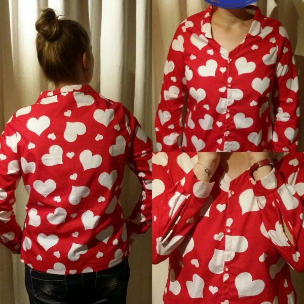 Herzchen Bluse