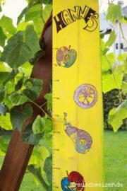 DIY Anleitung: Messlatte für Kinder selber machen