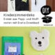 Deko fürs Kinderzimmer aus Pappe und Stoffresten selbermachen