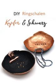 Ringschalen in Kupfer und Schwarz