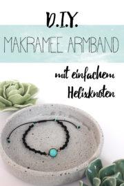 Makramée Armband mit einfachem Helixknoten