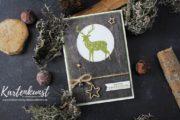 Weihnachtskarte mit dem Stempelset Freude im Advent von Stampin Up