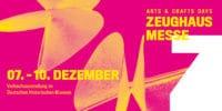 Edle Gebrauchskunst auf der 21. Zeughausmesse 7. - 10. Dezember 2017 im Deutschen Historischen Museum Berlin