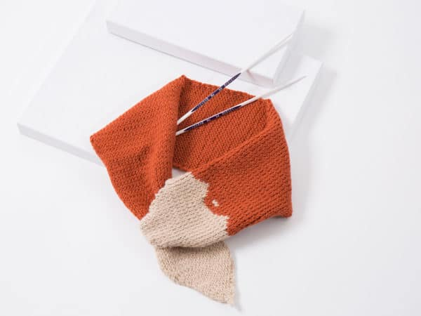 Fuchsschal Für Kinder Mit Ergonomischen Nadeln Stricken Handmade