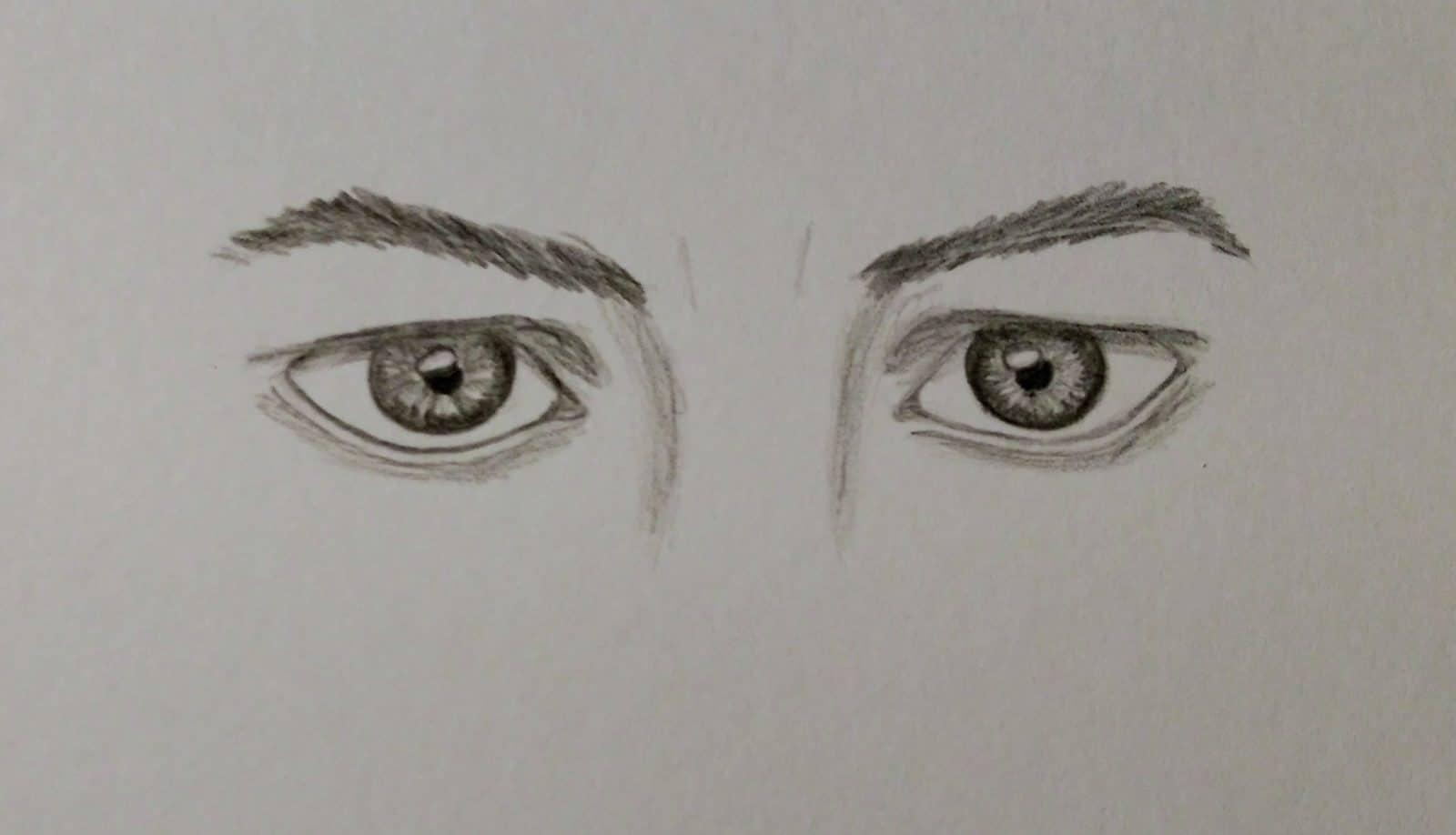 Ausdrucksstarke Augen Zeichnen Handmade Kultur